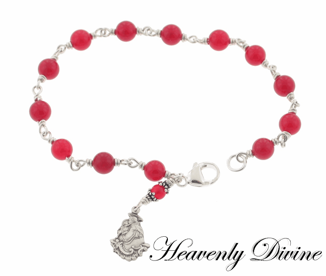 Sterling Silver St Anthony Chaplet Bracelet by Heavenly Divine