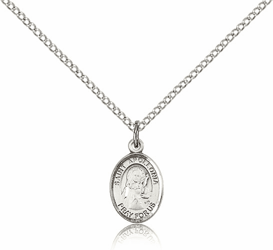 Sterling Silver St. Apollonia Patron Saint Medal