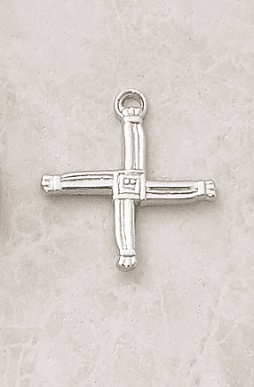 Sterling Silver St Brigid's Cross Necklace by Creed Jewelry