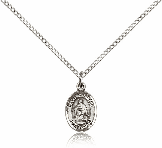 Sterling Silver St. Charles Borromeo Patron Saint Medal