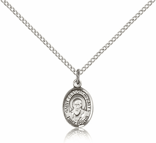 Sterling Silver St. Francis de Sales Pendant by Bliss Manufacturing