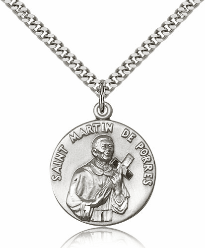 Sterling Silver St. Martin de Porres Patron Saint Medal by Bliss