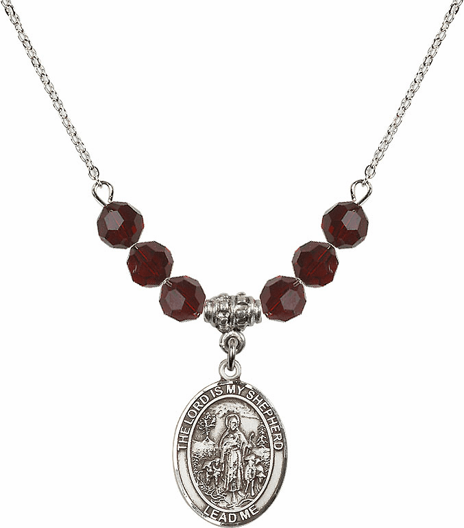 The Lord is My Shepherd Swarovski Crystal Beaded Necklace by Bliss Mfg