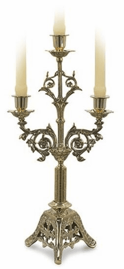 Stratford Chapel Brass Three Brand Church Candelabra