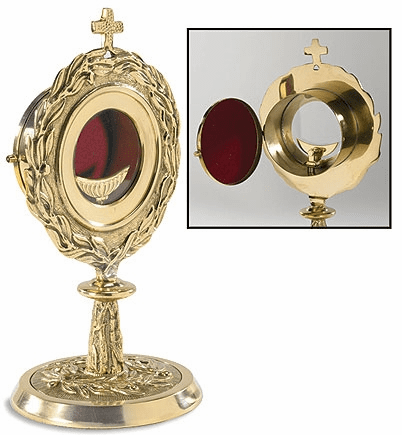 Stratford Chapel Gold-Plated Brass Monstrance with Removable Luna