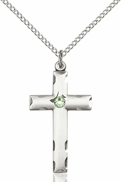 Swarovski Crystal August Peridot Birthstone Cross by Bliss