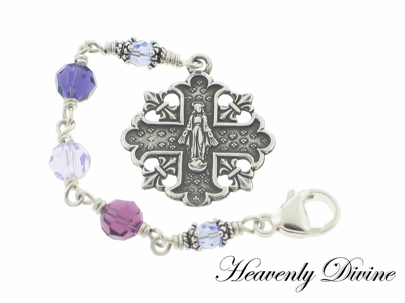 Swarovski Crystal Handmade Three Hail Mary Devotional Chaplets by Heavenly Divine