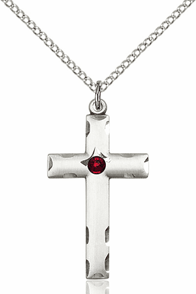Swarovski Crystal January Garnet Birthstone Cross by Bliss
