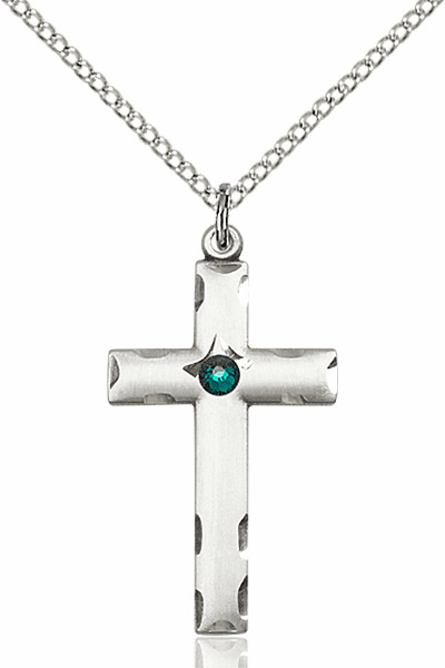 Swarovski Crystal May Emerald Birthstone Cross by Bliss