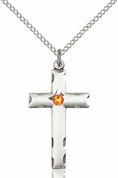 Swarovski Crystal November Topaz Birthstone Cross by Bliss