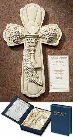 Tamaso Catholic First Holy Communion Gift Boxed Wall Cross