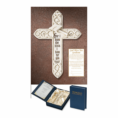 Tamaso For I Know Your Plans Graduation Gift Boxed Chrisitan Wall Cross