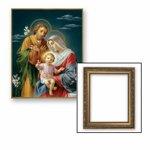 The Holy Family Frame Framed Print Picture with Gold Frame by Gerffert
