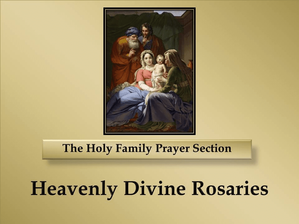 The Holy Family Prayer Section