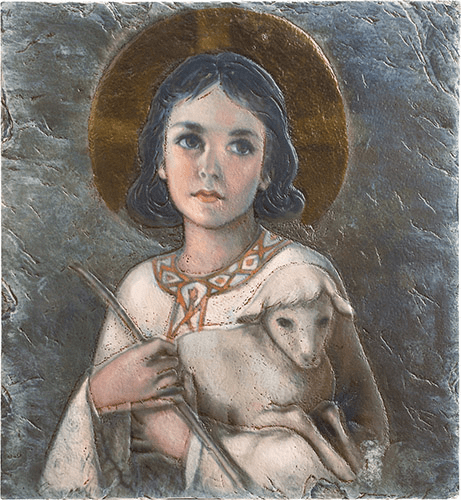The Lord Is My Shepherd Marco Sevelli Tile Plaque by Sacred Traditions