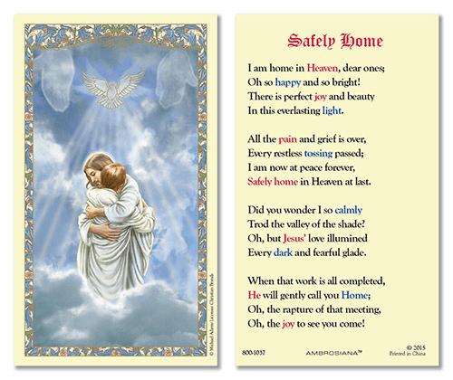 The Reunion Safely Home Laminated Gerffert 25pkg Holy Prayer Cards