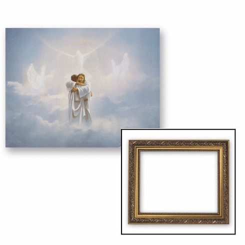 The Reunion Welcome Home Framed Print Picture with Gold Frame by Gerffert