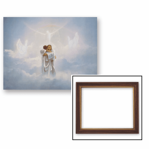 The Reunion Welcome Home Framed Print Picture with Woodtone Frame by Gerffert