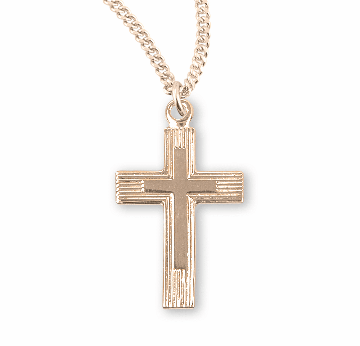 Tiny Fancy Double Cross Necklace by HMH Religious