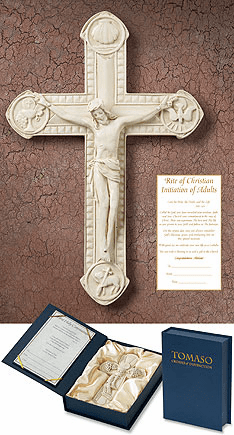 Tomaso Catholic RCIA Gift Boxed Chrisitan Wall Cross
