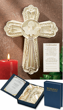 Tomaso Chrisitan Holy Confirmation Gift Boxed Wall Cross
