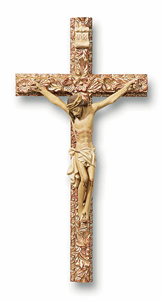 Tomaso Crucifixes of Distinction 8 inch Resin Ornate Wall Cross