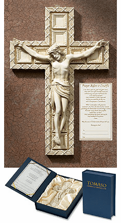 Tomaso Resin Religious Crucifix Gift Boxed Chrisitan Wall Cross