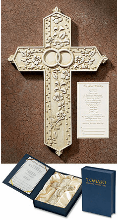Tomaso Wedding/Marriage Gift Boxed Chrisitan Wall Cross