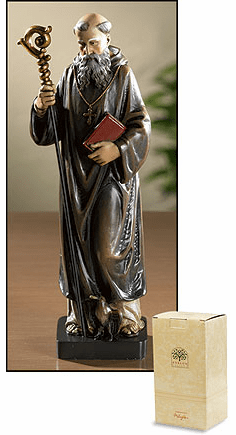 Toscana Saint Benedict Resin Statue by Avalon Gallery