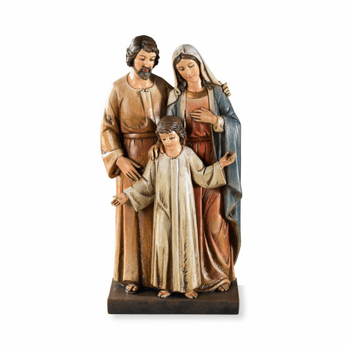 Toscana Standing Holy Family Wood Carved Look Figurine Statue by Avalon Gallery