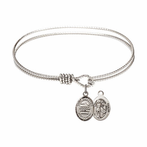 Twist Round Eye Hook St Sebastian Swimming Bangle Charm Bracelet by Bliss