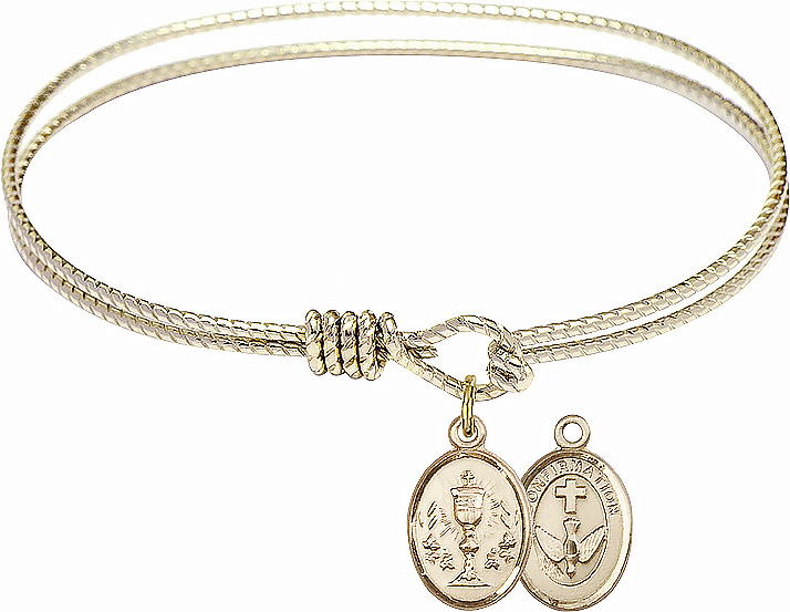 Twisted Chalice Confirmation Bangle 14kt Gold-filled Charm Bracelet by Bliss