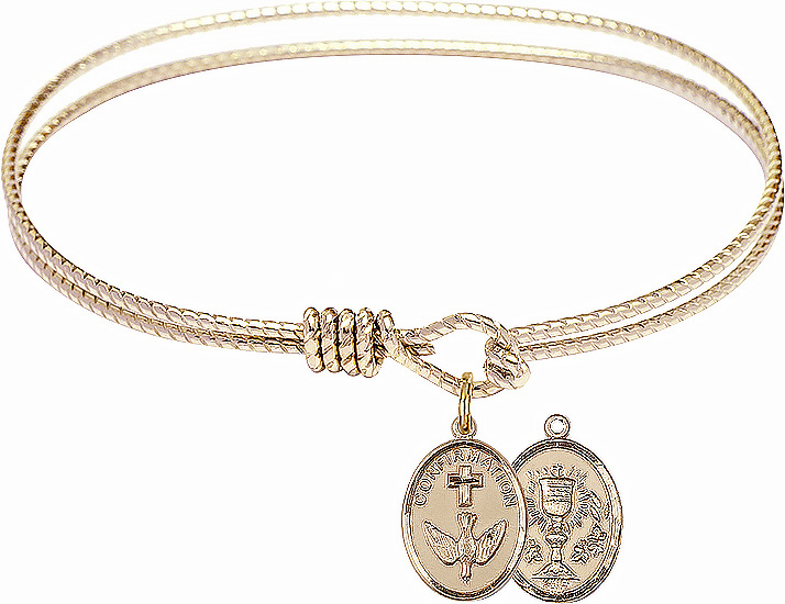 Twisted Confirmation Chalice Bangle 14kt Gold-filled Charm Bracelet by Bliss