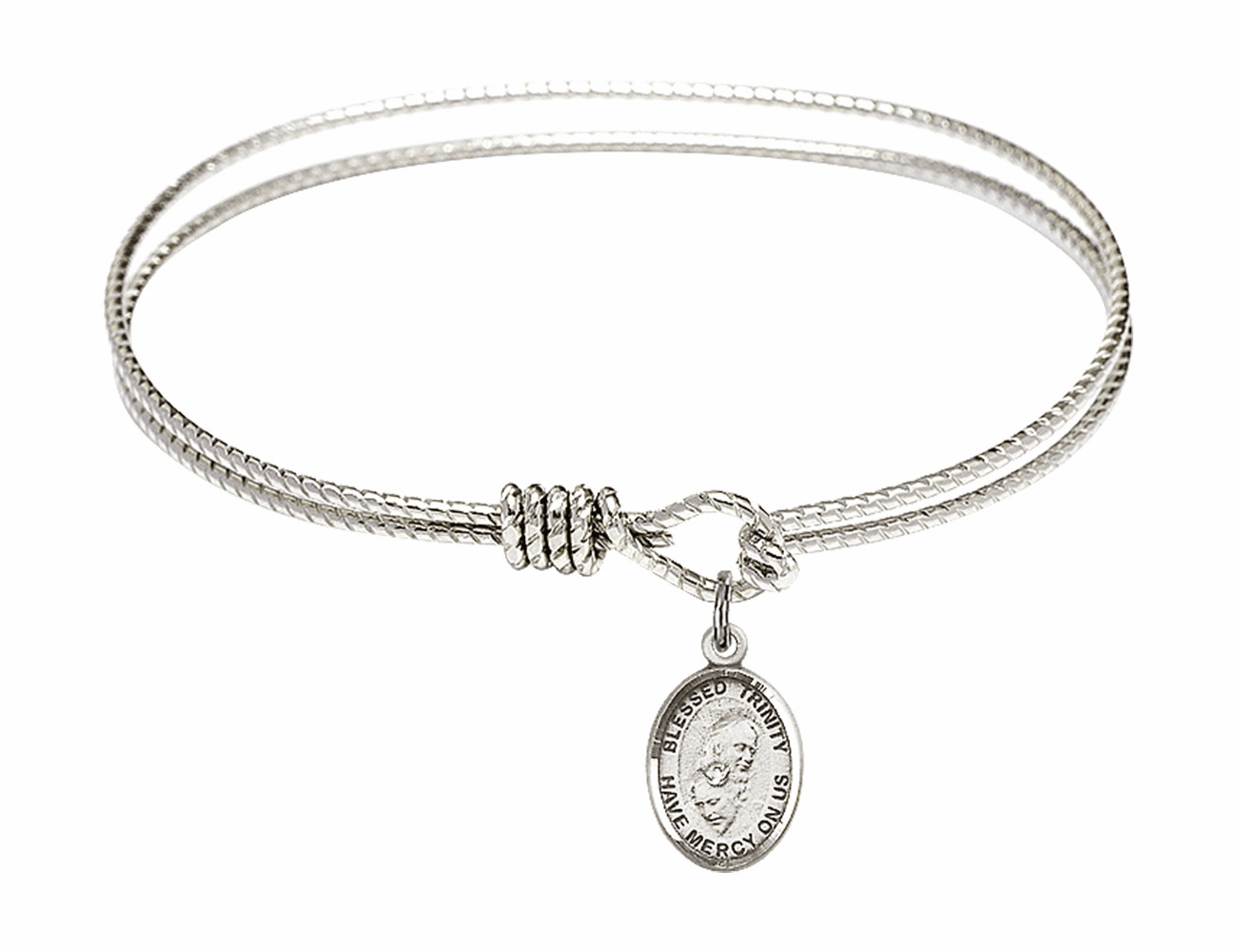 Twisted Holy Trinity Bangle Sterling Silver Charm Bracelet by Bliss