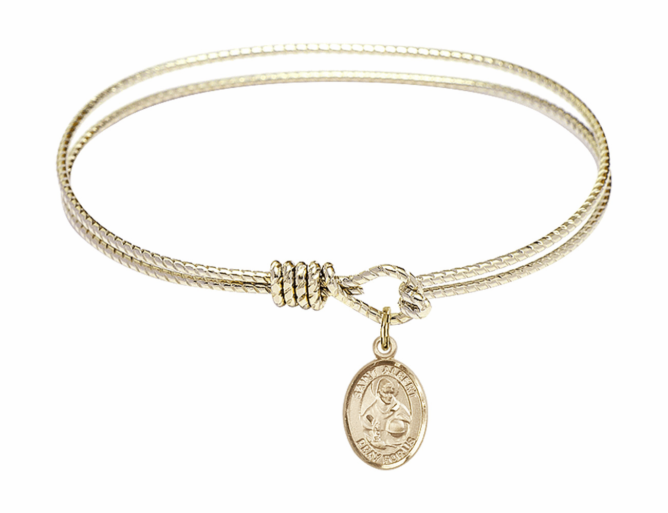 Twisted St Albert the Great Bangle 14kt Gold-filled Charm Bracelet by Bliss