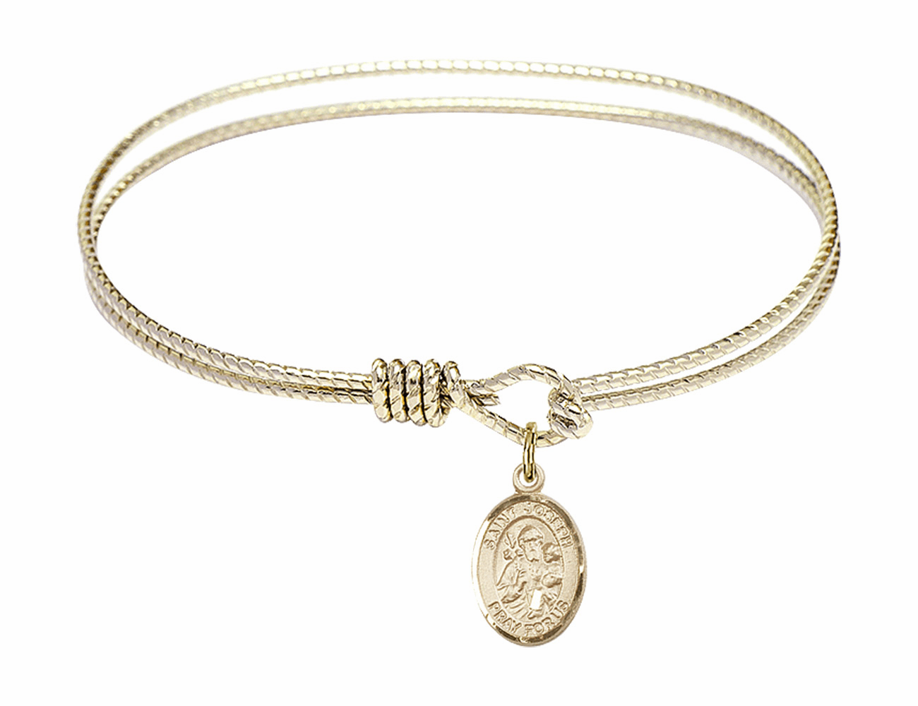 Twisted St Joseph Bangle 14kt Gold-filled Charm Bracelet by Bliss