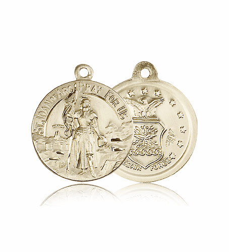 US Air Force 14kt Gold St. Joan of Arc Medal Pendant by Bliss