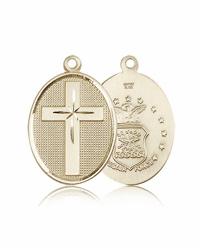 US Air Force 14kt Solid Gold Cross Pendant by Bliss Mfg