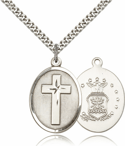 US Air Force Christian Military Cross Necklace by Bliss