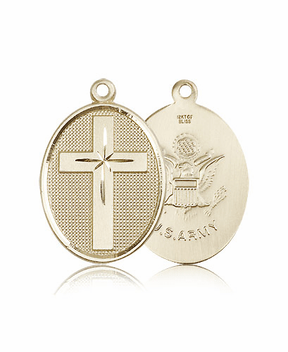 US Army Military Cross 14kt Gold Pendant Medal by Bliss
