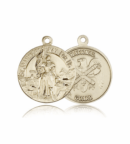 US National Guard 14kt Gold St. Joan of Arc Medal Pendant by Bliss