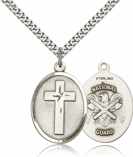 US National Guard Christian Military Cross Necklace by Bliss