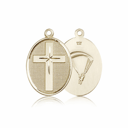 US Paratrooper14kt Gold Christian Cross Pendant by Bliss