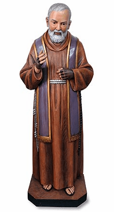 Val Gardena Patron Padre Pio of Pietrelcina Church-Sized Statue by Avalon Gallery