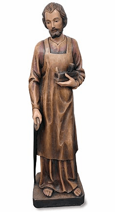 Val Gardena Statuary Patron Saint St Joseph the Worker Church-Size Statue by Avalon