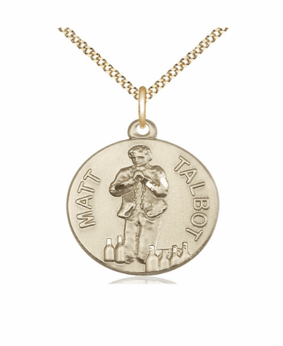 Venerable Matt Talbot 14kt Gold-filled Medal Necklace with Chain by Bliss