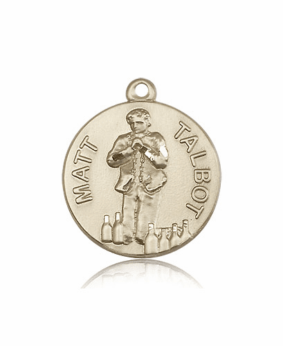 Venerable Matt Talbot 14kt Solid Gold Medal Pendant by Bliss