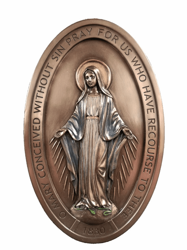 Veronese Collection Catholic Miraculous Medal Wall Plaque