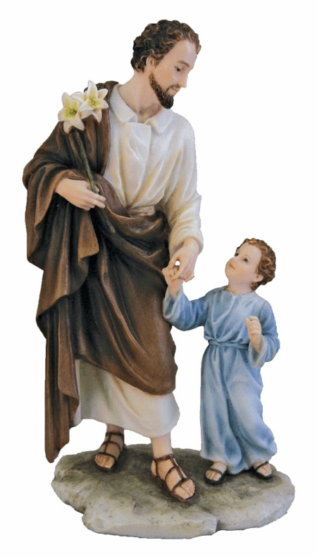Veronese Collection Hand-painted St Joseph and Child Statue