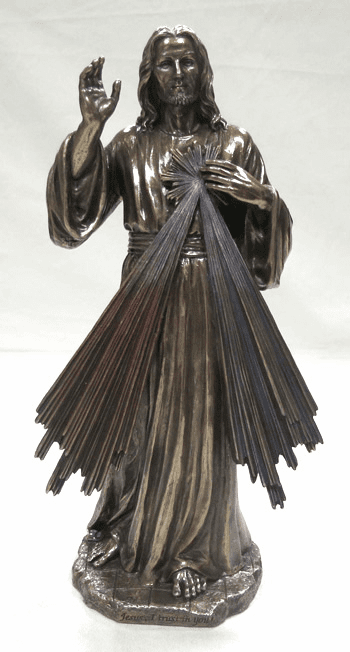 Veronese Collection Religious Divine Mercy Cold Cast Bronze Statue